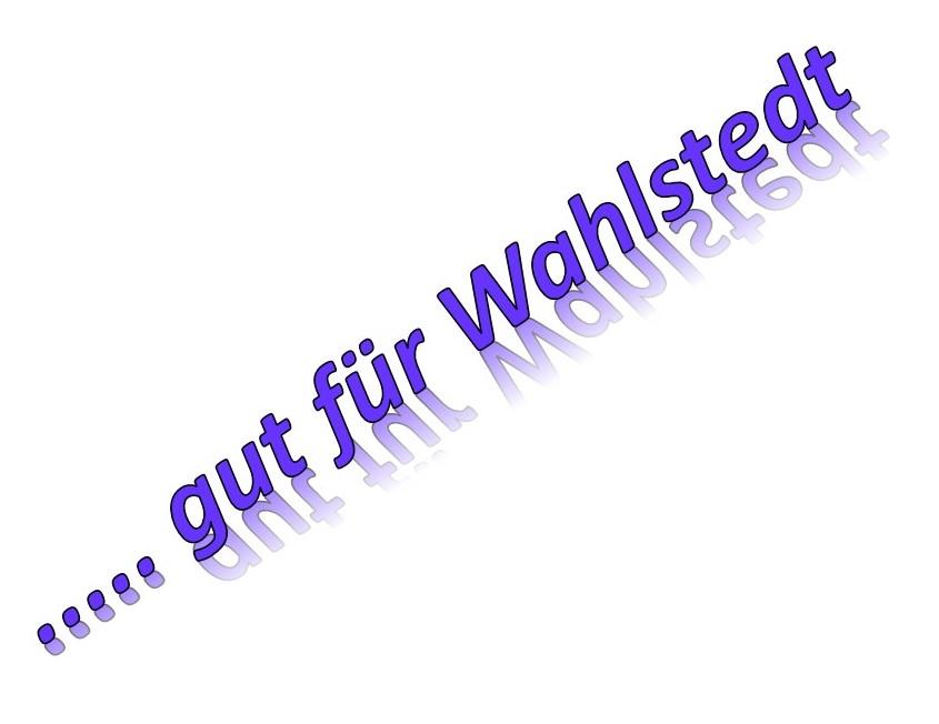 """Programm """"WIR für WAHLSTEDT"""" (WfW)"""